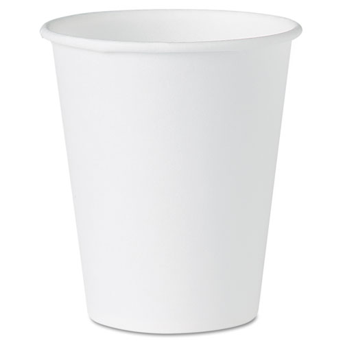 White Paper Water Cups, 4oz, White, 100/Pack | by Plexsupply