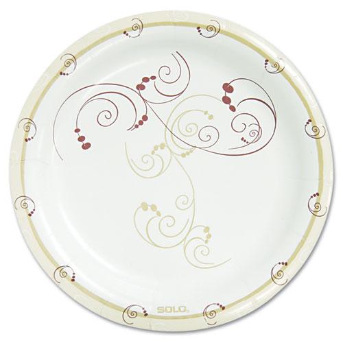 Symphony Paper Dinnerware, Mediumweight Plate, 8 1/2, Tan, 500/Carton