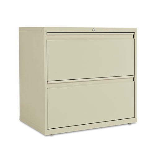 Two-Drawer Lateral File Cabinet, 30w x 18d x 28h, Putty