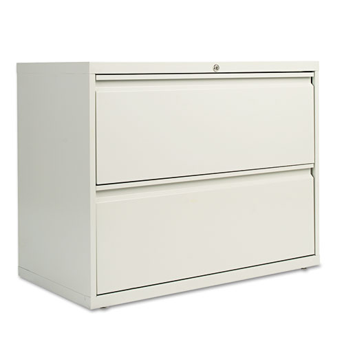 Two-Drawer Lateral File Cabinet, 36w x 19-1/4d x 28-3/8h, Light Gray