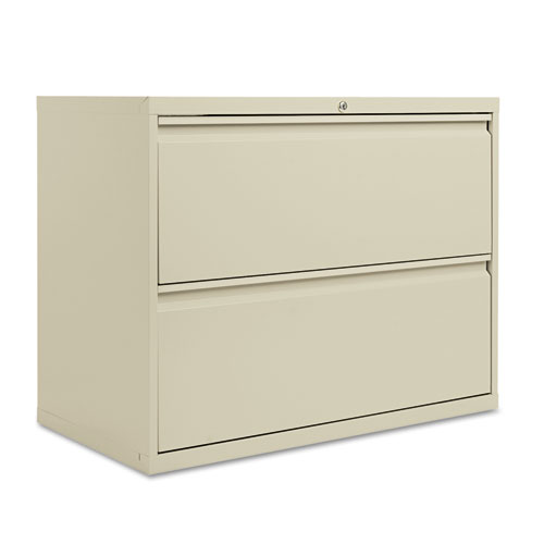 Two-Drawer Lateral File Cabinet, 36w x 19-1/4d x 28-3/8h, Putty