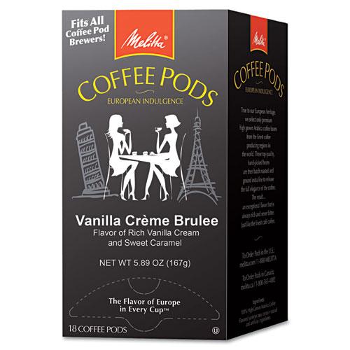 Coffee Pods, Vanilla Creme Brulee, 18 Pods/Box | by Plexsupply