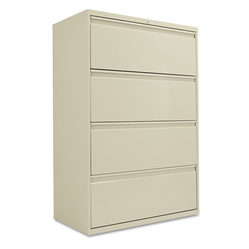 Four-Drawer Lateral File Cabinet, 36w x 18d x 52.5h, Putty