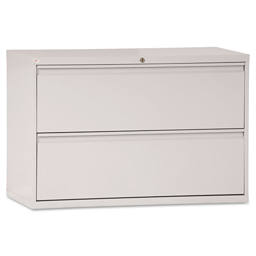 Two-Drawer Lateral File Cabinet, 42w x 18d x 28h, Light Gray
