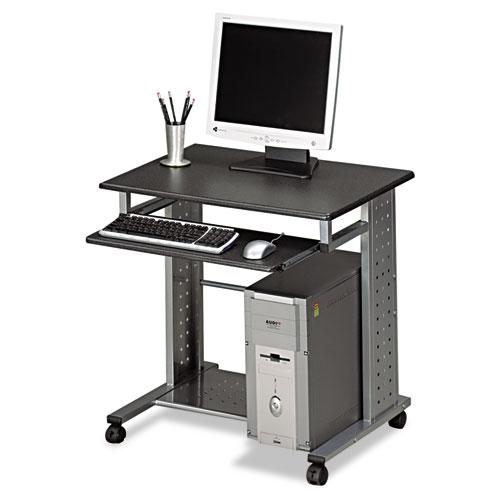 "Safco® Empire Mobile PC Cart, 29.75"" x 23.5"" x 29.75"", Anthracite/Silver"