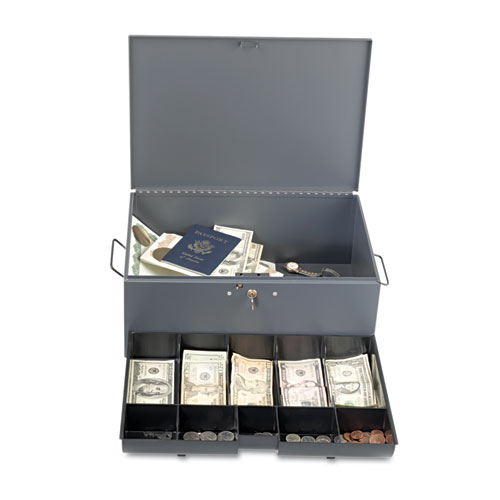 Mmf221f15tgra Steelmaster Extra Large Cash Box With