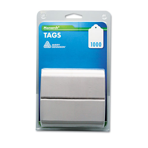 Refill Tags, 1 1/4 x 1 1/2, White, 1,000/Pack | by Plexsupply