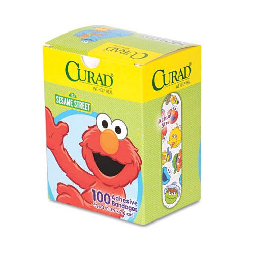 "Kids Adhesive Bandages, Sesame Street, 3/4"" x 3"", 100/Box"