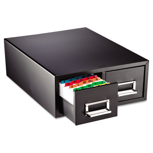 "Drawer Card Cabinet Holds 3,000 3 x 5 cards, 12 5/16"" x 16"" x 5 3/16"" 