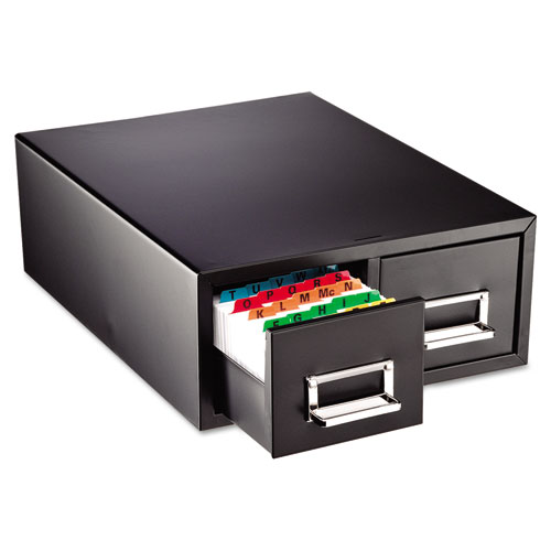 "Drawer Card Cabinet Holds 3,000 5 x 8 cards, 18 2/5"" x 16"" x 7 1/4"" 