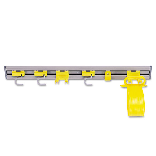 Closet Organizer/Tool Holder, 34w x 3.25d x 4.25h, Gray