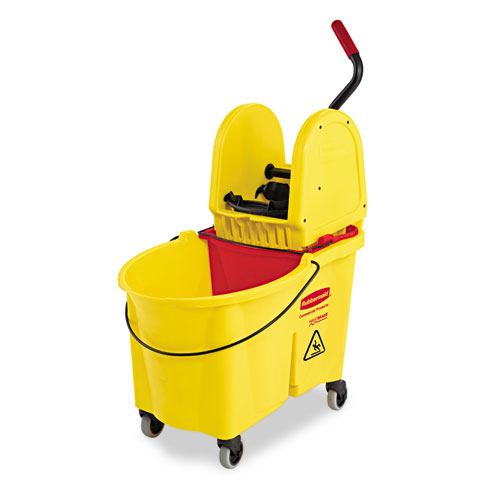 WaveBrake 44 Quart Bucket/Downward Pressure Wringer Combination, Yellow