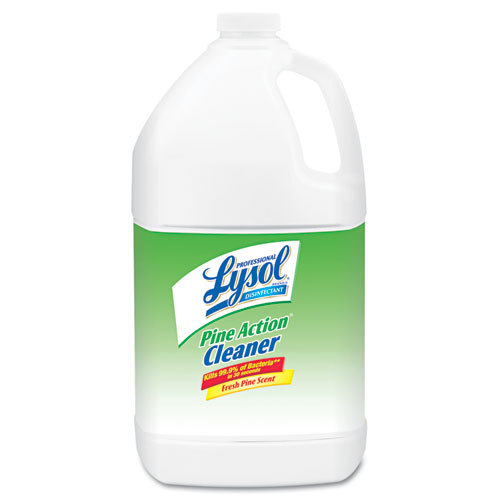 Professional LYSOL® Brand Disinfectant Pine Action Cleaner Concentrate, 1 gal Bottle