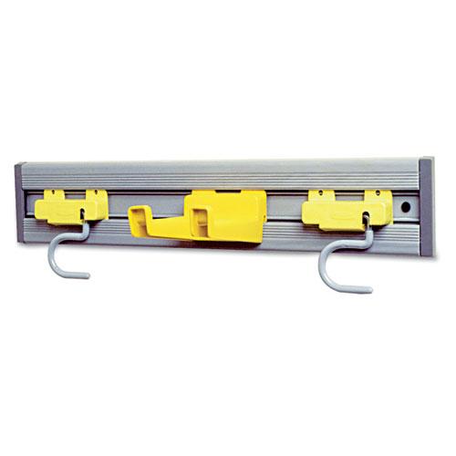 Closet Organizer/Tool Holder, 18w x 3.25d x 4.25h, Gray