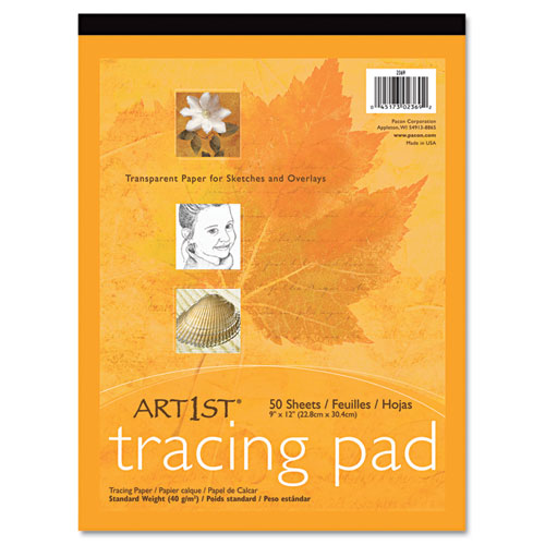Art1st Parchment Tracing Paper, 16 lb, 9 x 12, White, 50/Pack | by Plexsupply