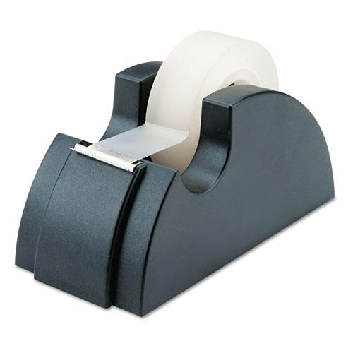 7520002402411 SKILCRAFT Desktop Tape Dispenser, Rubber Feet, Serrated Cutting Edge, Black