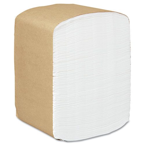 Full Fold Dispenser Napkins, 1-Ply, 13 x 12, White, 375/Pack, 16 Packs/Carton | by Plexsupply