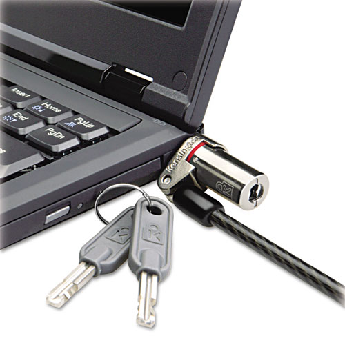 Microsaver DS Ultra-Thin Laptop Lock, Silver, Two Keys