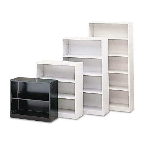 HON® Metal Bookcase, Two-Shelf, 34-1/2w x 12-5/8d x 29h, Putty