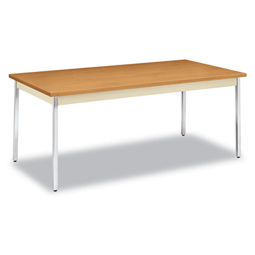 Utility Table, Rectangular, 72w x 36d x 29h, Harvest/Putty | by Plexsupply
