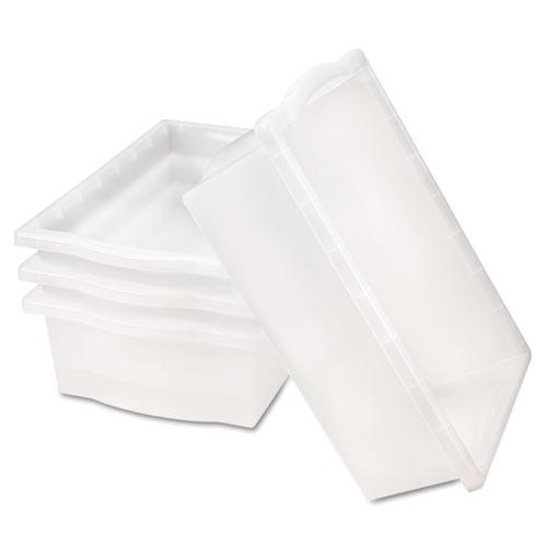 SmartLink Storage Kits, Tray Kit, 12w x 24d x 6h, Clear, 4 Trays/Kit