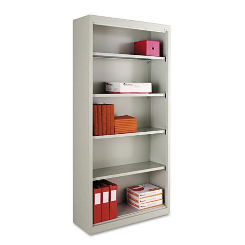 "Alera® Steel Bookcase, 2-Shelf, 34.5""w x 12.63""d x 29""h, Black"