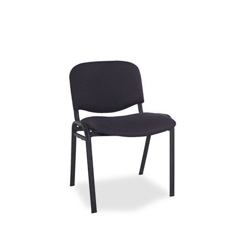 Alera Continental Series Stacking Chairs, Black Seat/Black Back, Black Base, 4/Carton | by Plexsupply