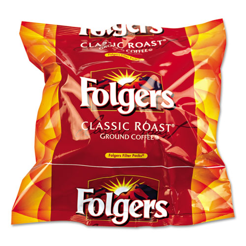 Folgers® Coffee Filter Packs, Classic Roast, .9oz, 160/Carton