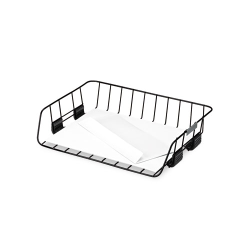 fel62112 fellowes side-load wire stacking letter tray