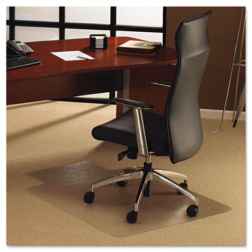 Floortex® Cleartex Ultimat Polycarbonate Chair Mat for Low/Medium Pile Carpet, 48 x 53