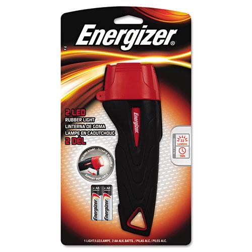 Rubber Flashlight, 2 AA, Large