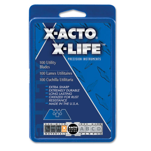 X-ACTO® SurGrip Utility Knife Blades, 100/Pack
