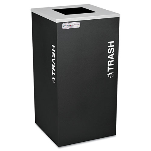 Kaleidoscope Collection Trash Receptacle, 24 gal, Black