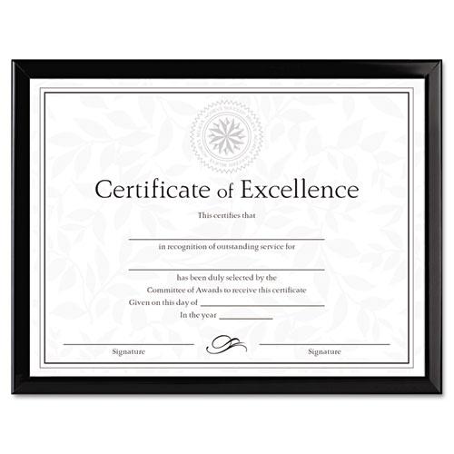Value U Channel Document Frame Wcertificates 8 12 X 11 Black