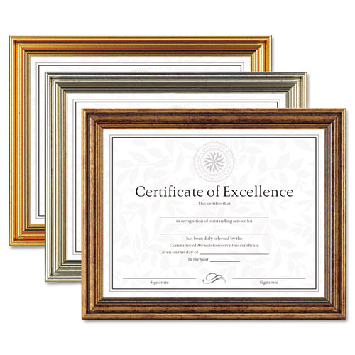 Dax Antique Colored Document Frame Wcertificate Plastic 8 12 X