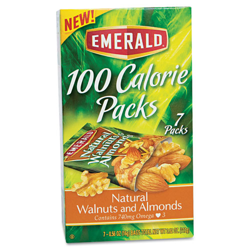 100 Calorie Pack Walnuts and Almonds, 0.56 oz Packs, 7/Box