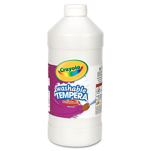 Artista II Washable Tempera Paint, White, 32 oz | by Plexsupply