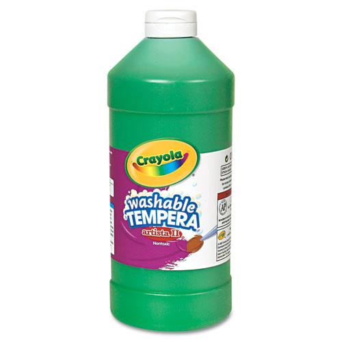 Artista II Washable Tempera Paint, Green, 32 oz | by Plexsupply