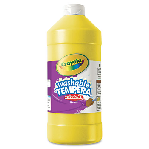 Crayola® Artista II Washable Tempera Paint, Yellow, 32 oz