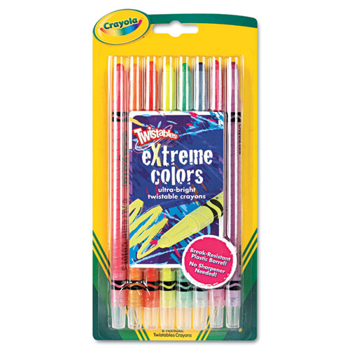 Twistable Crayons, 8 Neon Colors/Set 529738