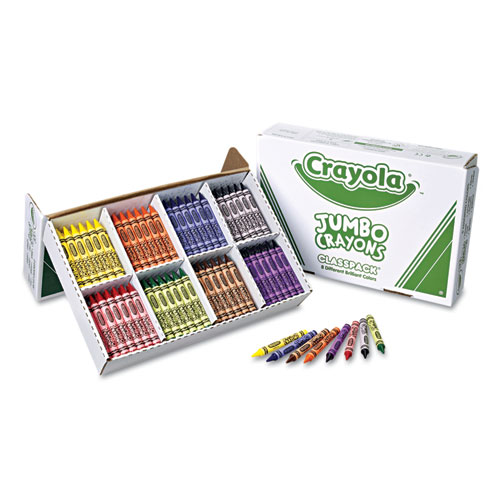 Jumbo Classpack Crayons, 25 Each of 8 Colors, 200/Set | by Plexsupply