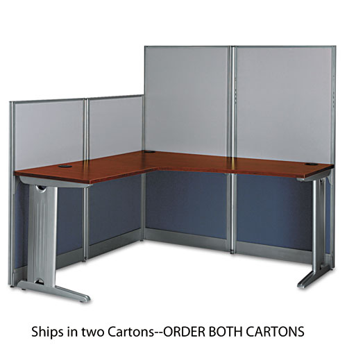 L-Workstation (Box 1 of 2) Office-in-an-Hour, Hansen Cherry | by Plexsupply