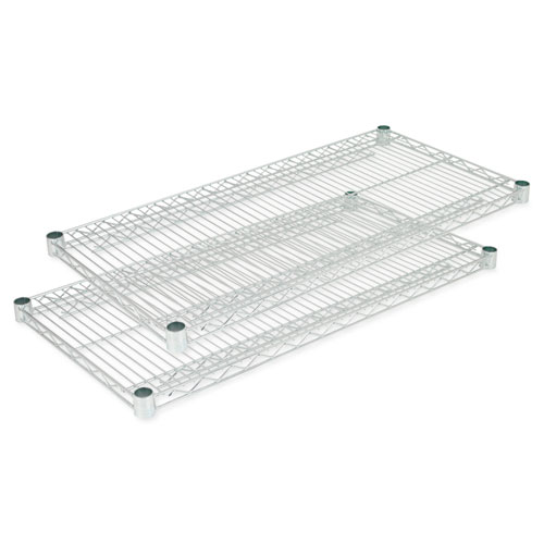 Alera® Industrial Wire Shelving Extra Wire Shelves, 18w x 18d, Silver, 2 Shelves/Carton