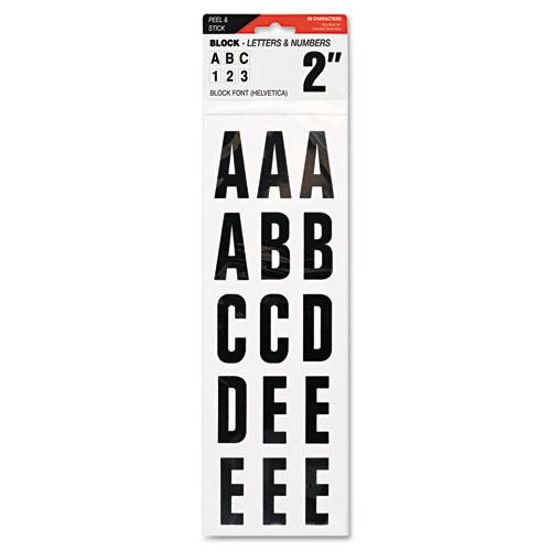 Letters Numbers Symbols Adhesive 2 Black Jad
