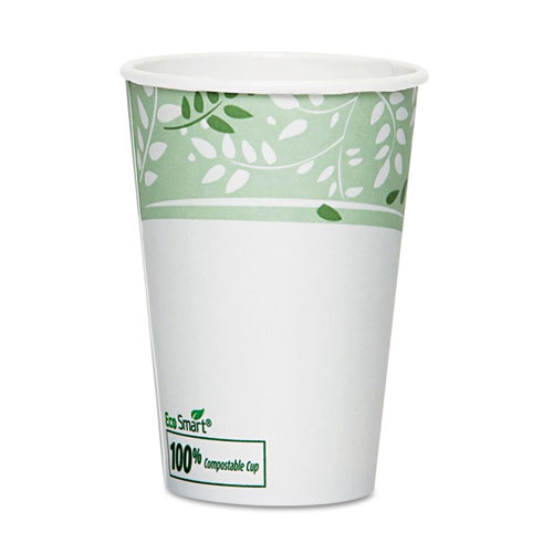 EcoSmart Hot Cups, Paper w/PLA Lining, Viridian, 16oz, 50/Pack | by Plexsupply