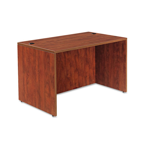 Alera Valencia Series Straight Front Desk Shell, 47.25 x 29.5 x 29.63, Medium Cherry