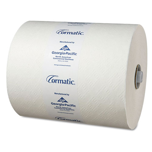 Hardwound Roll Towels, 8 1/4 x 700ft, White, 6 Rolls/Carton | by Plexsupply