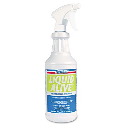 Dymon® LIQUID ALIVE Odor Digester, 1 gal Bottle, 4/Carton