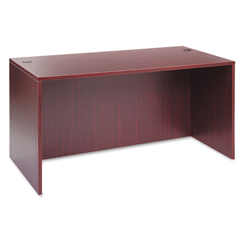 Alera Valencia Series Straight Desk Shell, 59.13w x 29.5d x 29.63h, Mahogany | by Plexsupply