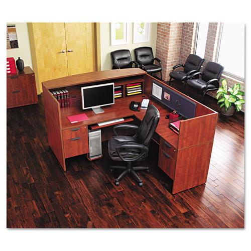 Alera® Alera Valencia Series Straight Desk Shell, 47 1/4w x 29 1/2d x 29 5/8h, Espresso